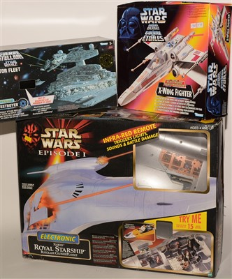 Lot 1236 - Star Wars Naboo Royal Starship; and two electronic models.