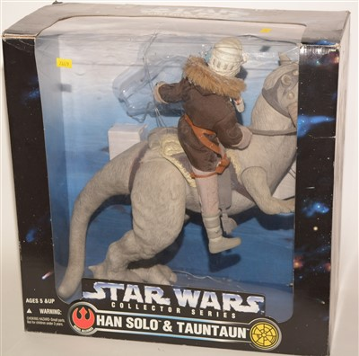 """Lot 1240 - Star Wars """"Collector"""" series large-scale Hans Solo and Tauntaun."""