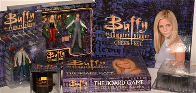 Lot 1242 - Buffy the Vampire Slayer chess set; and miscellaneous figures and memorabilia.