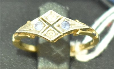 Lot 634-Sapphire and diamond ring