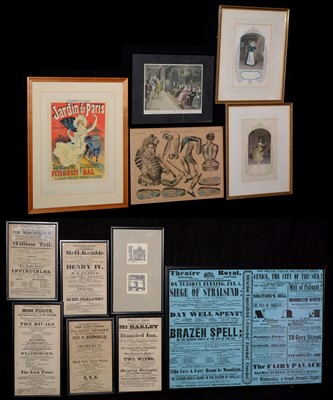 Lot 357-Box of prints, theatrical posters, etc.