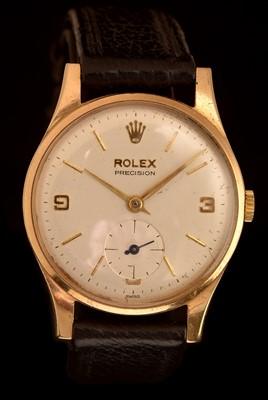 Lot 31 - Rolex Precision: a 9ct gold gentleman's wristwatch