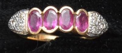 Lot 83-Ruby and diamond ring