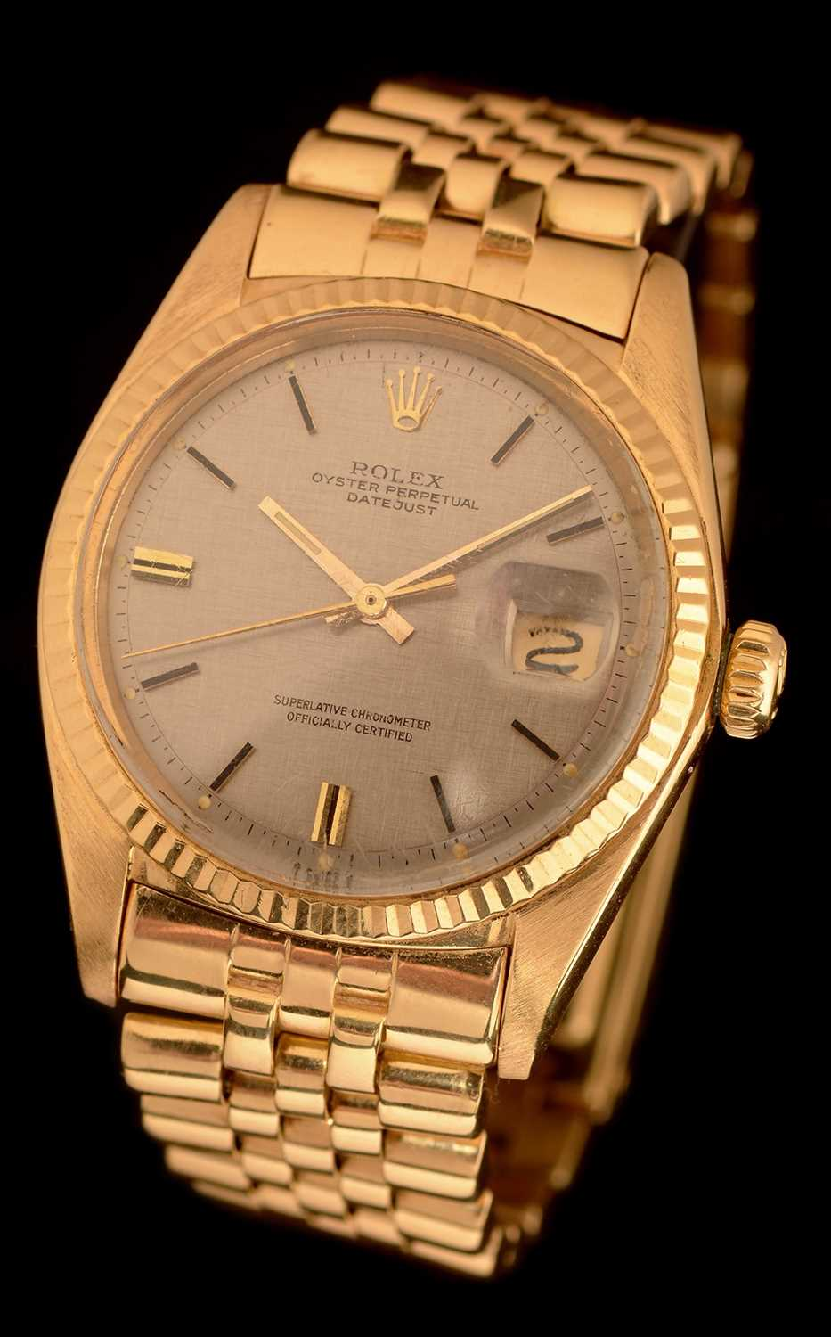 32 - Rolex Datejust: 18ct yellow gold datejust
