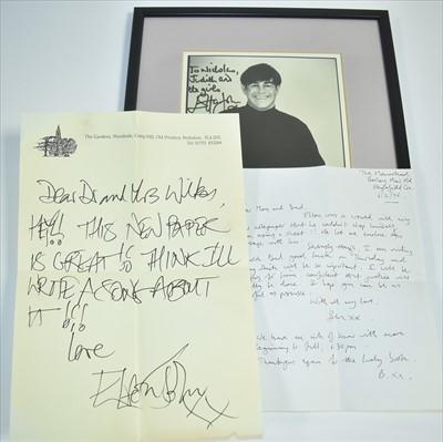 Lot 1003-Elton John memorabilia