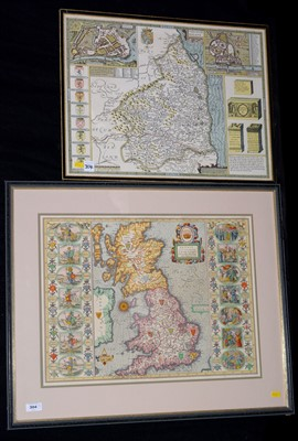 Lot 304-After John Speede, reproduction maps of the...