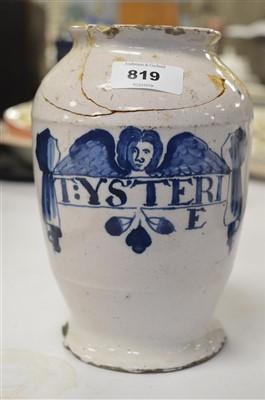 Lot 819-Dry drug jar