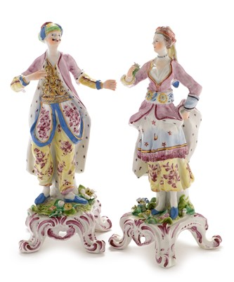 Lot 506 - Pair of Bow figures Turks