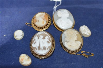 Lot 2-Carved shell cameos