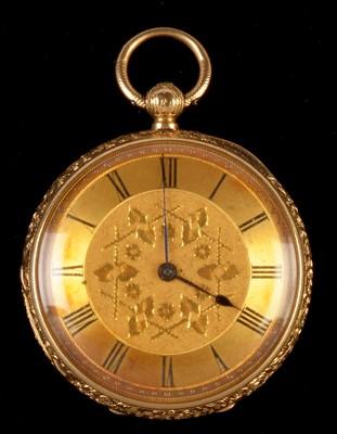 Lot 43 - Gold pocket watch