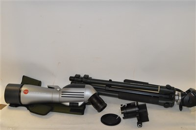 Lot 314-leica spotting scope and tripod