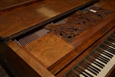 Lot 1000-Bluthner: a Victorian walnut baby grand piano.