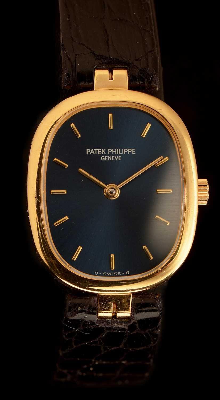 Lot 30-Patek Philippe 'Golden Ellipse': An 18ct. gold lady's watch.