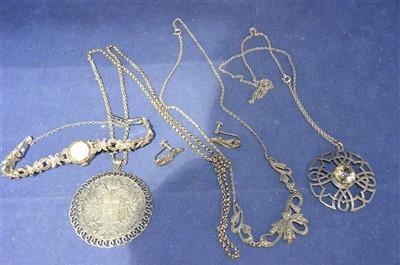 Lot 9-Silver jewellery