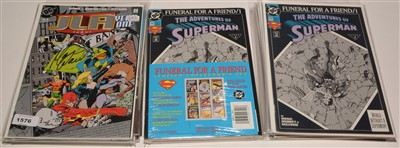 Lot 1576 - DC comics Justice League of America Year One No. 1 and other titles