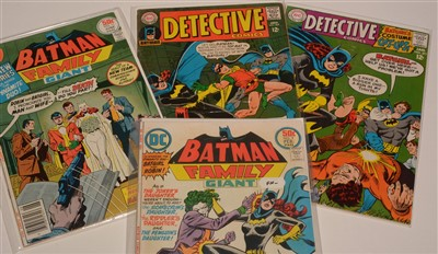 Lot 1571 - Batman Family Giant No's. 9 and 11; and Detective Comics No's. 369 and 371