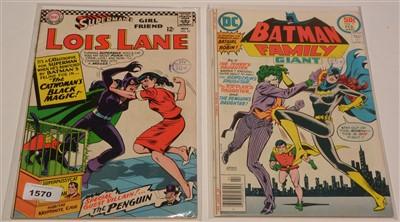 Lot 1570 - Lois Lane No. 70; and Batman Family Giant No. 9