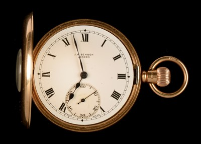 Lot 36 - 9ct gold pocket watch by Benson