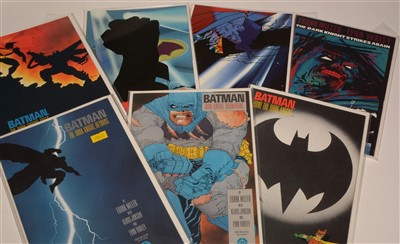 Lot 1558 - Batman: The Dark Knight Returns mini series No's. 1-4; and DK2 No's. 1-3