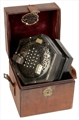 Lot 9-Wheatstone Concertina