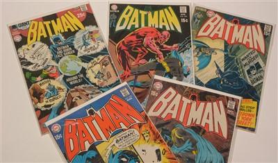 Lot 1519 - Batman No's. 220, 221, 223, 224 and 225