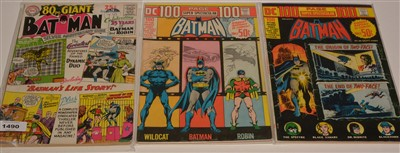 Lot 1490 - Batman 80 Page Giant No. 5; and Batman 100 Page Super Spectacular No's. DC14 and DC20