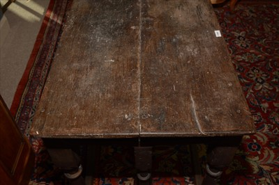 Lot 1069 - A oak credence/altar table