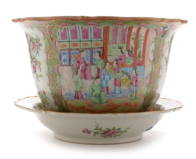 Lot 478-Cantonese jardiniere and stand