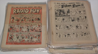 Lot 12-Film Fun sundry issues from the period 1943-59....