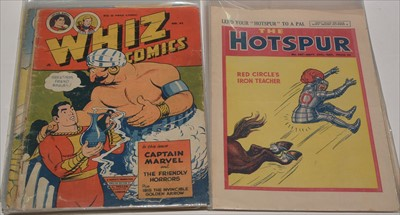 Lot 14-The Wizard 1946/57 (x 3); The Hotspur No. 587,...