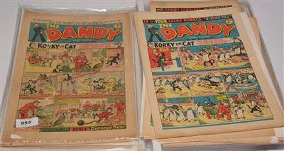 Lot 954-A large quantity of Dandy Comics