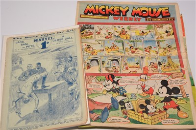 Lot 953-Disneyland Magazine, Mickey Mouse Weekly; and The Marvel - sundry issues
