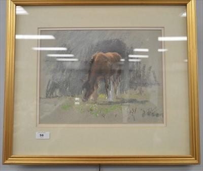 Lot 58-Walter Holmes - watercolour.