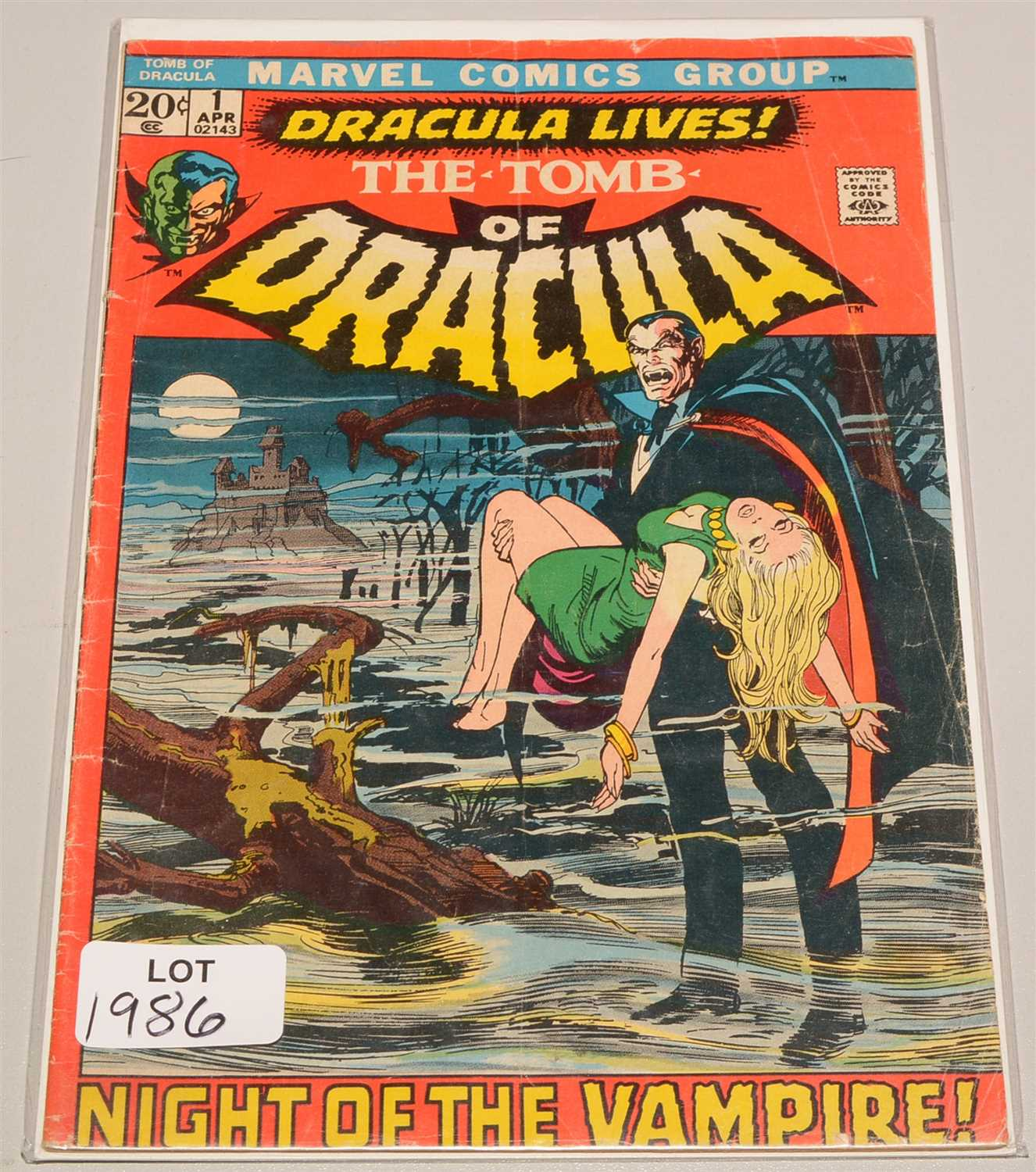 Lot 1986-The Tomb of Dracula No. 1