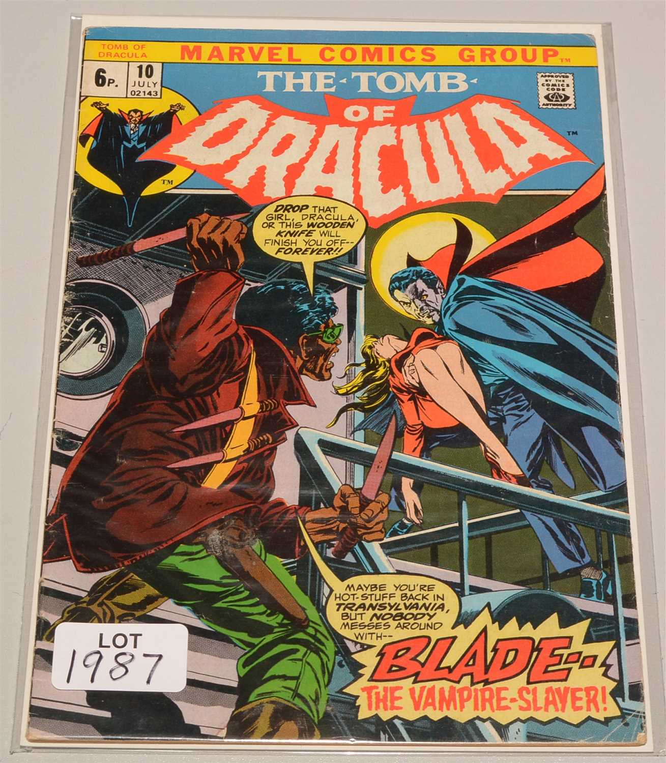 Lot 1987-The Tomb of Dracula No. 10.