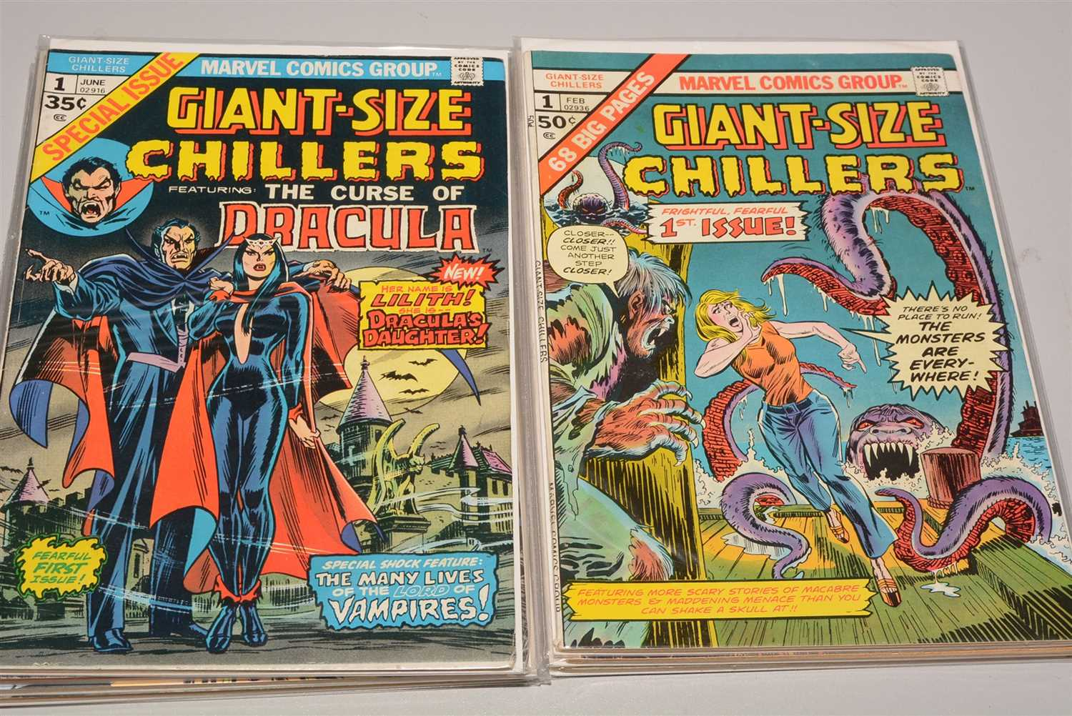 Lot 1988-Giant-Size Chillers and sundry comics