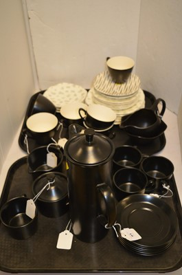 Lot 91-Wedgwood Black glaze coffee service