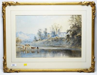 Lot 50A-Edward Tucker (Edward Arden) - watercolour.