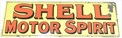 Lot 1095-Shell Motor Spirit enamel sign