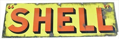 Lot 1096-Shell enamel sign