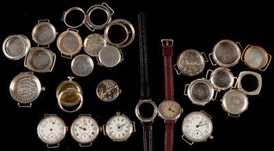 Lot 1-Miscellaneous lady's and gent's wristwatches; etc.