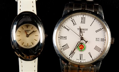 Lot 4-Gent's Tissot 1853; and Tissot 1853 flower watch.