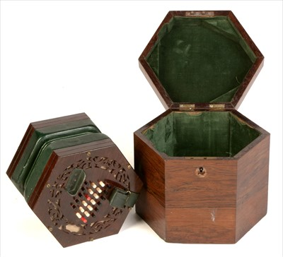 Lot 10-English system Concertina