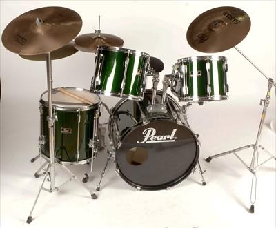 Lot 230 - Four-piece drum kit.