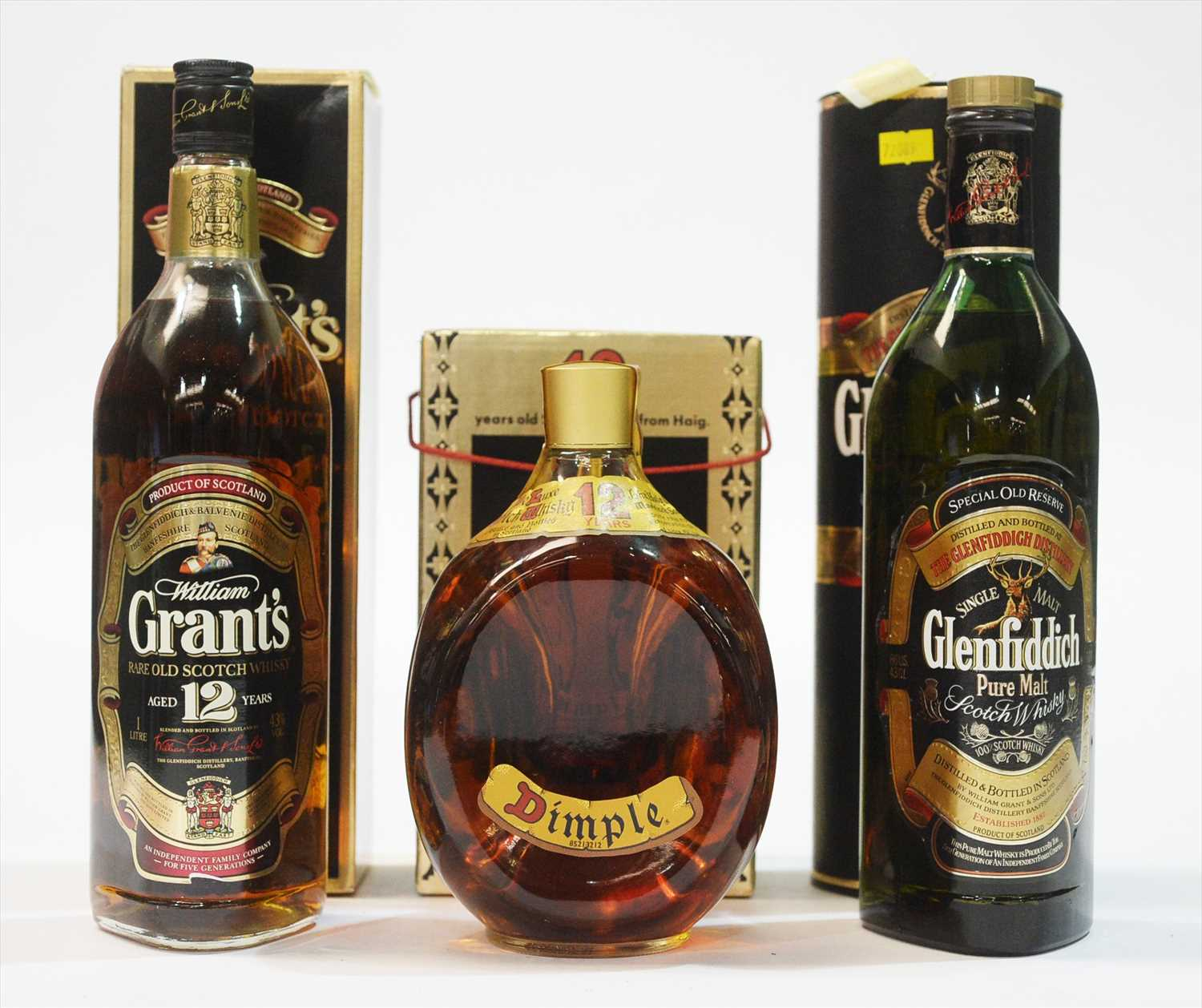Lot 349-Three whiskies