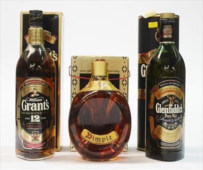 Lot 349-Three whiskies