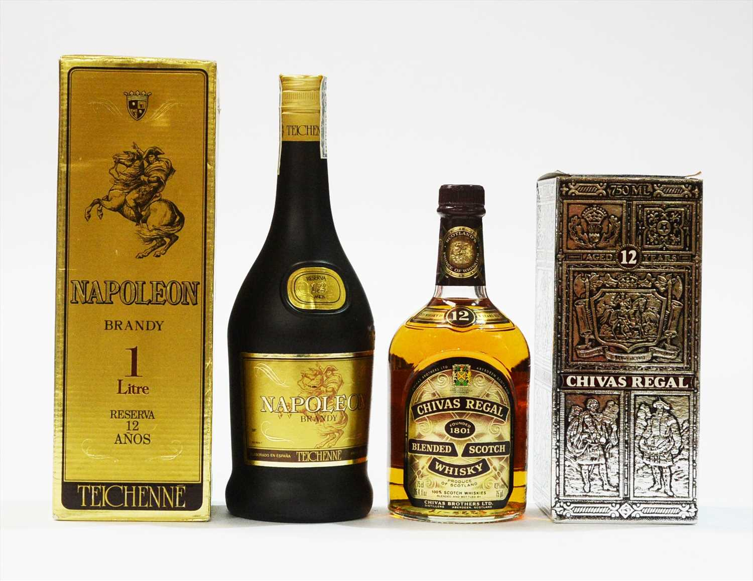 Lot 347-Brandy and whisky