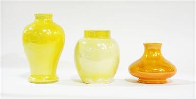 Lot 903-Three Moorcroft lustre vases