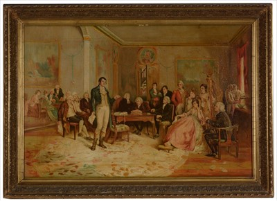 "Lot 997-After Charles Martin Hardie (19th Century) - ""Robert Burns in Edinburgh, 1787"""