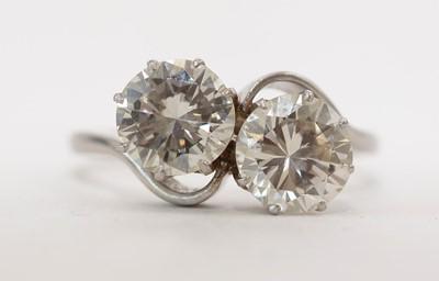 Lot 57 - Two stone diamond ring